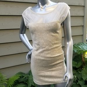 Cream and Gold Free People Dress Size Small